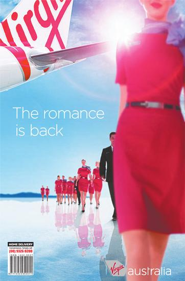 According to Virgin Australia, romance is back? Shame they don't do what they say